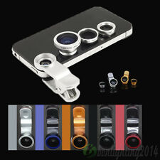 3 in1 Fish Eye Lens Macro Wide Angle Lens for Android Phone iPhone 5S 4S Samsun