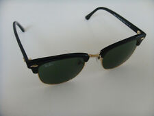Rayban Clubmaster Sunglasses 3016 W0365 Black with Gold and Case New in Box