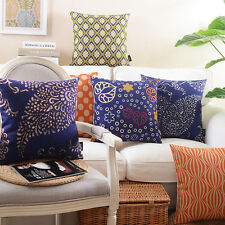 "18"" Pillow Case Pillowslip Home Room Decor Back Sofa Bed Cushion Cover 9 Choices"
