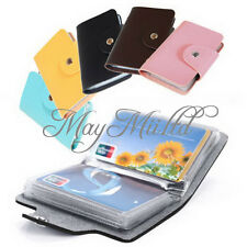 PU Leather Pocket Business Credit ID Card Holder Case Wallet for 24 Cards Hot W