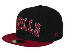 New Era 59FIFTY NBA Pincrown Chicago Bulls Fitted Cap - Black/Red