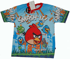 ANGRY BIRDS SMASH IT!!  T-Shirt  Boys Girls Kids Top Jersey 22