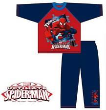 Boys Official Spiderman Character Pyjamas Set Long Bottoms 4 years to 10 years