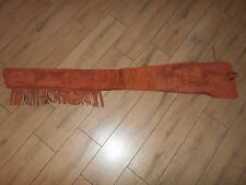 BN Brown Suede Leather Fringe Winchester 94 Marlin1895 Rifle Saddle Scabbard 53""