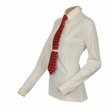 Shires Equestrian Maids / Childs Long Sleeve Tie Shirt Yellow (Show, Competition