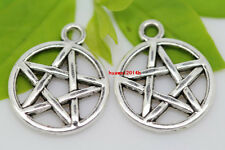 Wholesale lot 20pcs Tibet Silver Gothic wicca pentagram Charm Pendant 20x16mm