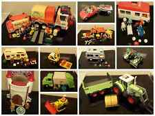 playmobil construction police van tractor sports car dust cart ambulance van