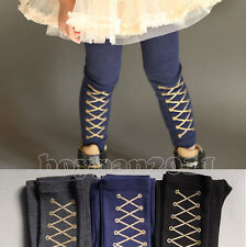 Newest Vogue Kids Toddlers Girls Clothing Tights Gold Trousers Pants Sz 2-8Y