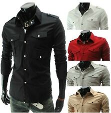 2013 New Mens Luxury Casual Stylish Slim Fit Dress Shirts 5 Colors 4 Size3000