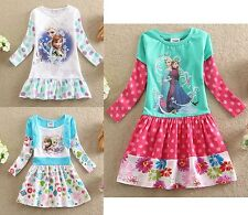 Frozen - Vestiti Bambina - Girl Dresses - Manica Lunga - Long sleeves A00021-2-3
