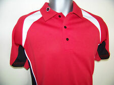*/\///\ Funky Red / White Golf Shirt - Top //\//\