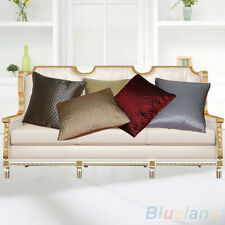 High Quality Grid Throw Pillow Case Home Car Sofa Decorative Cushion Cover Shell