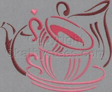 Tea Time - Machine Embroidery Designs Set of 10 On CD