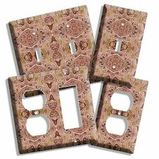 BROWN PAISLEY MEDIEVAL DESIGN LIGHT SWITCH OUTLET WALL PLATE COVER ROOM ART DECO