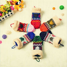 2014 New Fashion Women's Knit Twist Mittens Gloves Warm Winter 18 Colors