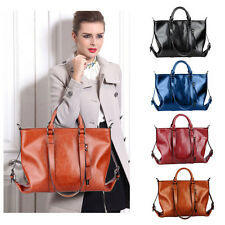 Oil Leather Handbags Womens Shoulder Bags Tote Vintage Fashion