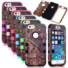 Camo Realtree Heavy Duty Shockproof Rubber Hybrid Case Cover For Apple iPhone