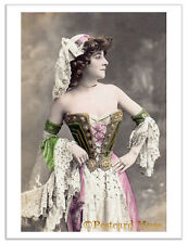 ACTRESS IN A CORSET Vintage Postcard Image Photo Greeting Card Or Print SD084