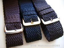 Vintage nylon perlon watch band strap 18, 20mm Made in Italy many colors
