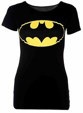 SEXY LADIES WOMEN BATMAN LOGO PRINT VEST TOP T SHIRT SIZE 6, 8-10,12-14