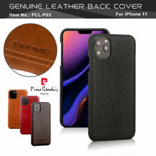 PIERRE CARDIN Genuine Leather Cover PC Hard Back Case For Apple iPhone 5G/5S