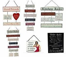 MUM DAD SISTER FAMILY FRIEND HOUSE WARMING GIFT HUMOROUS HOUSE RULES PLAQUES