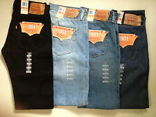 MEN'S LEVI 501 STRAIGHT LEG BUTTON FLY JEANS 30,31,32,33,34,36,38 BNWT