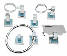 Bathroom Hardware Accessories Set ,- 6 pcs., Towel bar, Robe hook, Paper Holder