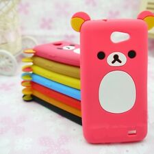 Lovely Cute Relax Teddy Bear Soft Silicone Lucky Cover Case For HTC Cell Phones