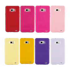16 Colors Soft Silicone Rubber Gel TPU Cover Case For Samsung Galaxy S2 II i9100