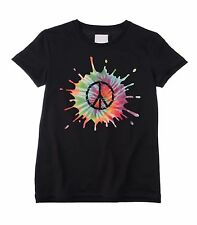PSYCHEDELIC CND SYMBOL UNISEX KIDS T-SHIRT - Peace Hippie Childrens - All Sizes