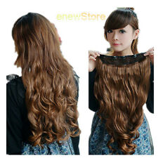 One Piece Clip in Synthetic Human Hair Extensions Fashion Style Long Wavy Curly