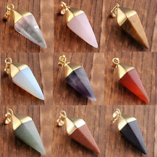 HOT Crystal Pendulum Healing Dowsing Reiki Chakra Gemstone Pendants For Necklace