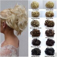 SALE, REDUCED Clip In On Chignon UpDo / Curly Wavy Clip On Short Hair Piece