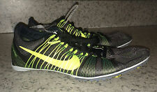 NEW Mens NIKE Zoom Victory 2 Grey Volt Middle Distance Track Spikes Shoes 14 15