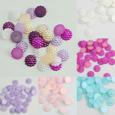 Lot 100Pcs Mixed  Resin Flower Flatback Appliques For Phone Wedding DIY Craft