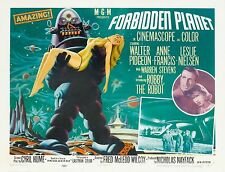 FORBIDDEN PLANET Movie POSTER Rare 50's Horror Sci Fi