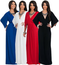 NEW Womens Elegant Flutter Sleeve V-neck Plus Size Party Maxi Dress S M L XL 2X