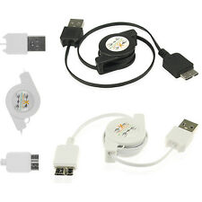 Retractable USB Data Sync Charger Flat Cord Cable For Samsung Galaxy Note3 Ⅲ S5