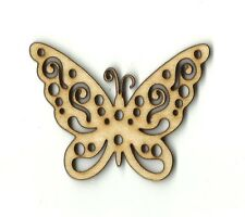 Butterfly Unfinished Wood Shapes Craft Supply Laser Cut Outs DIY 60
