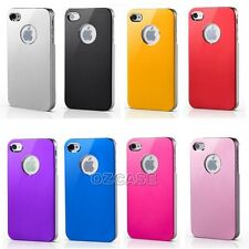 Aluminium Slim Hard Case Cover For Apple iPhone 4S 4 + Screen Protector