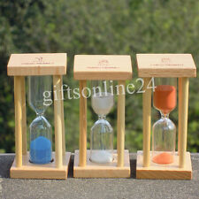Small Wood sand glass Hourglass Timer 1,3,5 Min Tea/Coffee Children Xmas gift