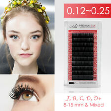 Mia® Synthetic Silk Eyelash Extension JBCD .15/.2/.25 Individual Semi Permanent