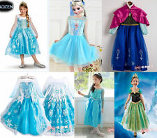 Frozen Anna Elsa Princesse Costume Kids Party Fantaisie Queen Robe Reine Neiges