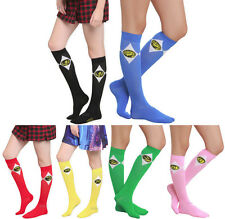 NEW Mighty Morphin Power Rangers Knee High Socks CHOOSE COLOR 20TH ANNIVERSARY