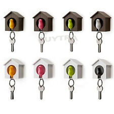 Adorable New Bird Nest Sparrow House Key Chain Ring Chain Wall Hook Holders ESUS