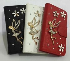 Diamond Crystal Angel Flip Leather Card slot Wallet Cover Case for Nokia phones