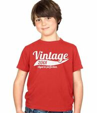 Vintage 2001 13th Birthday Childs Present Party Gift Kids Boys & Girls T-Shirt