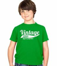 Vintage 2003 11th Birthday Childs Present Party Gift Kids Boys & Girls T-Shirt