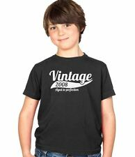 Vintage 2008 6th Birthday Childs Present Party Gift Kids Boys & Girls T-Shirt